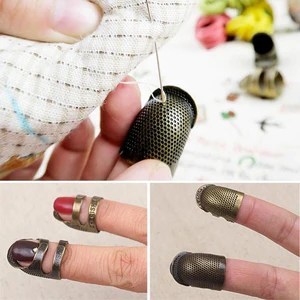 antique sewing brass thimble