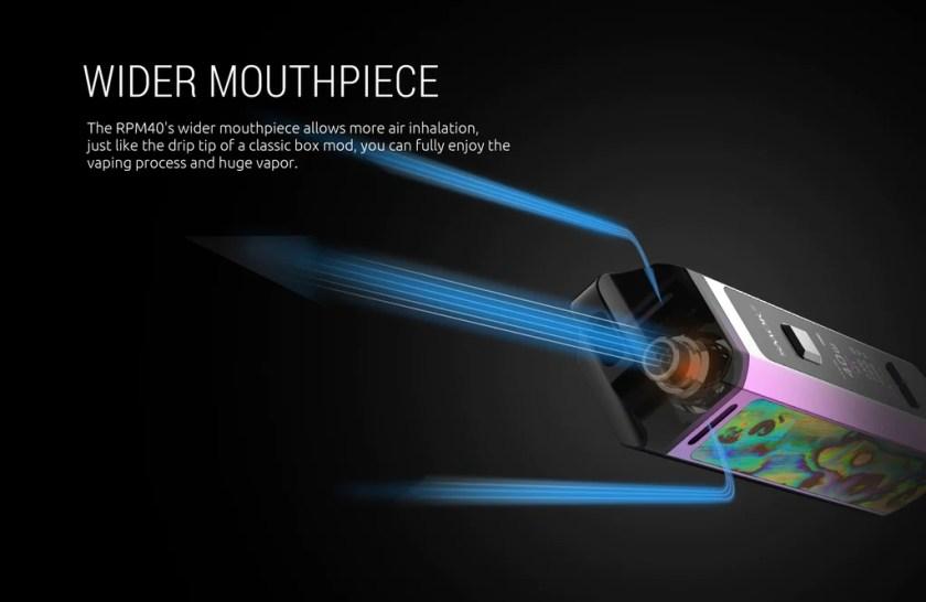 Smok RPM 40 Vape Pod System VW Starter Kit Wider Mouthpiece