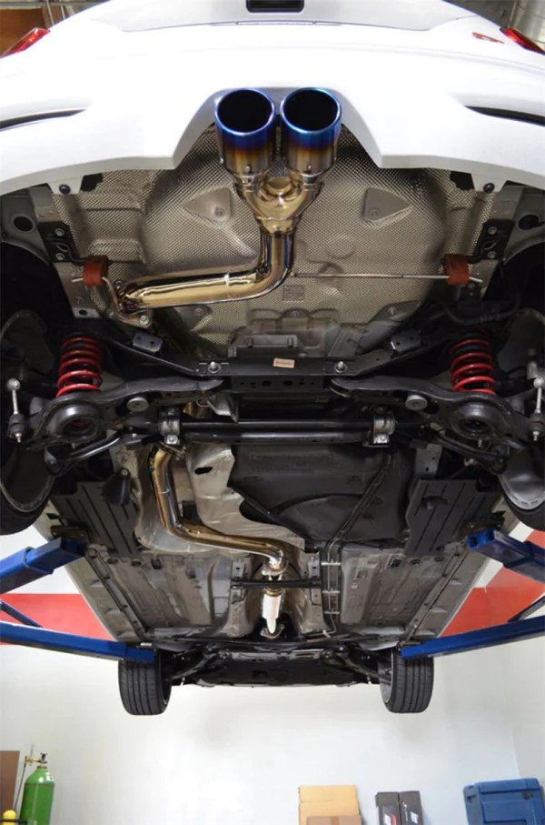 2013 2017 ford focus st exhaust system cat back w dual burnt tips 2 0t ses9001tt