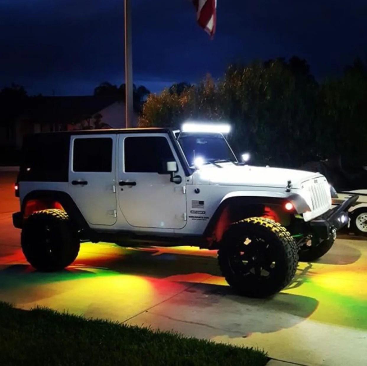 jeep wrangler lightbar combo 52 inch lightbar pods mounts wiring  [ 1242 x 1236 Pixel ]