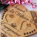 Personalised Ring Holder Engagement Ring Platter Heart Ring Holder