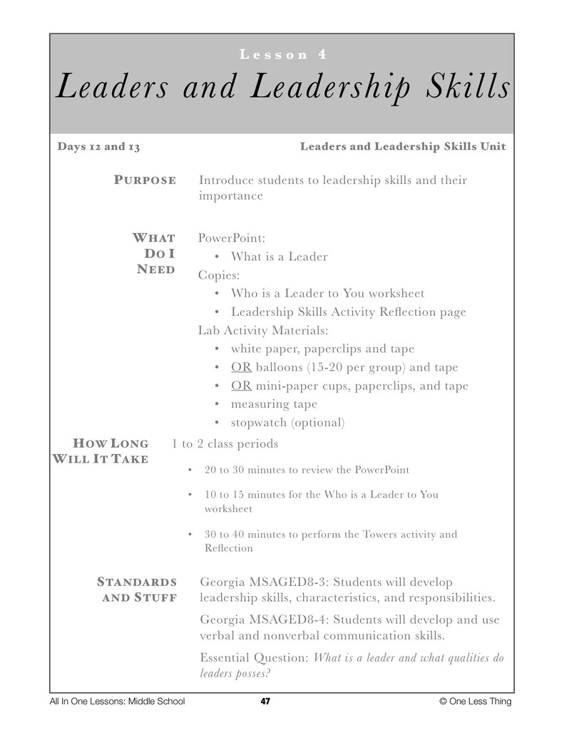 hight resolution of 8-04 Leaders and Leadership