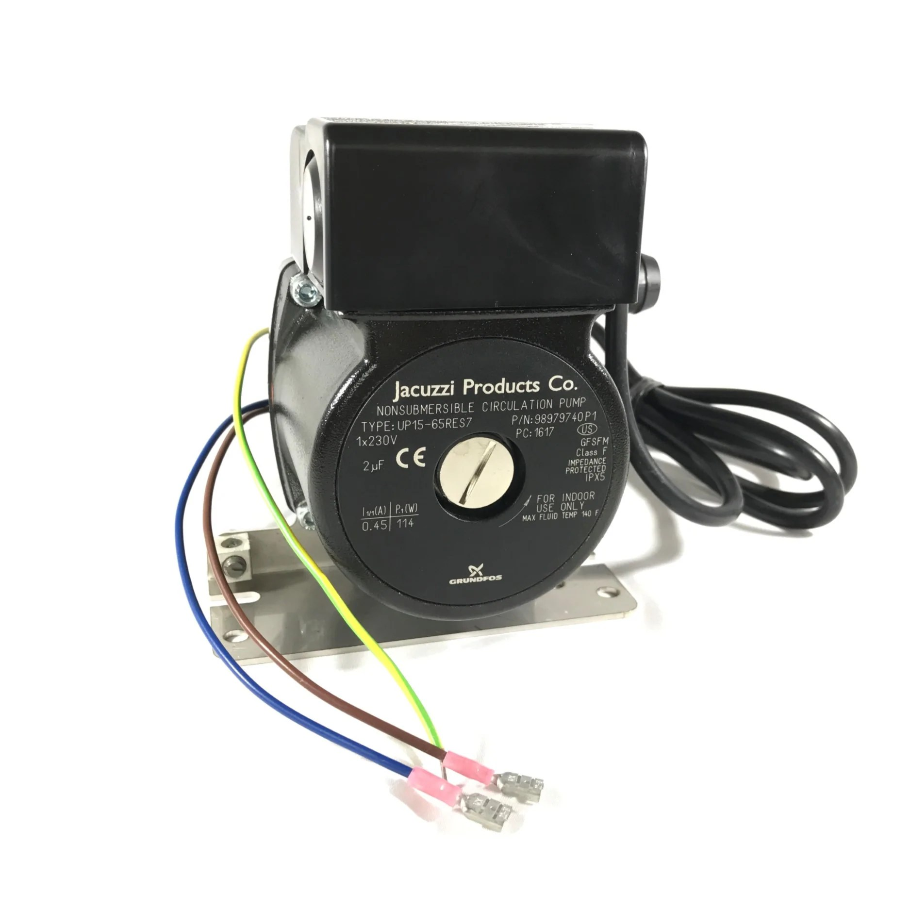 medium resolution of jacuzzi hot tub circulation pump 240vac 50hz part no 6000 125