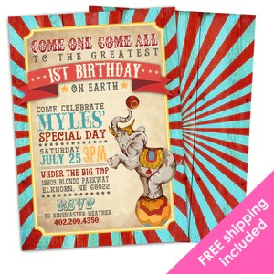 Greatest Showman Birthday Invitation For A Vintage Circus Party