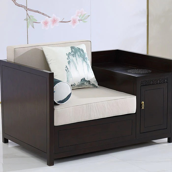 新中式沙發組合簡約現代中式實木布藝沙發會所樣板房酒店禪意家具– LuxHKHome