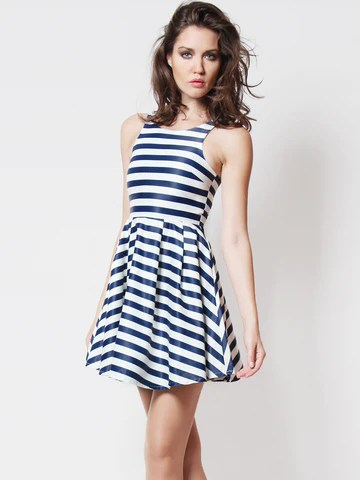 Leanndra Nautical Skater Dress