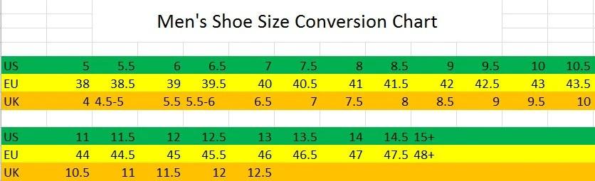 also men   shoe boot conversion size chart eu to us hkm canada rh encoreequestrian
