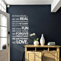 Customised in this House family rules wall sticker | Vinyl ...