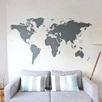 World Map Wall Sticker | Vinyl Impression