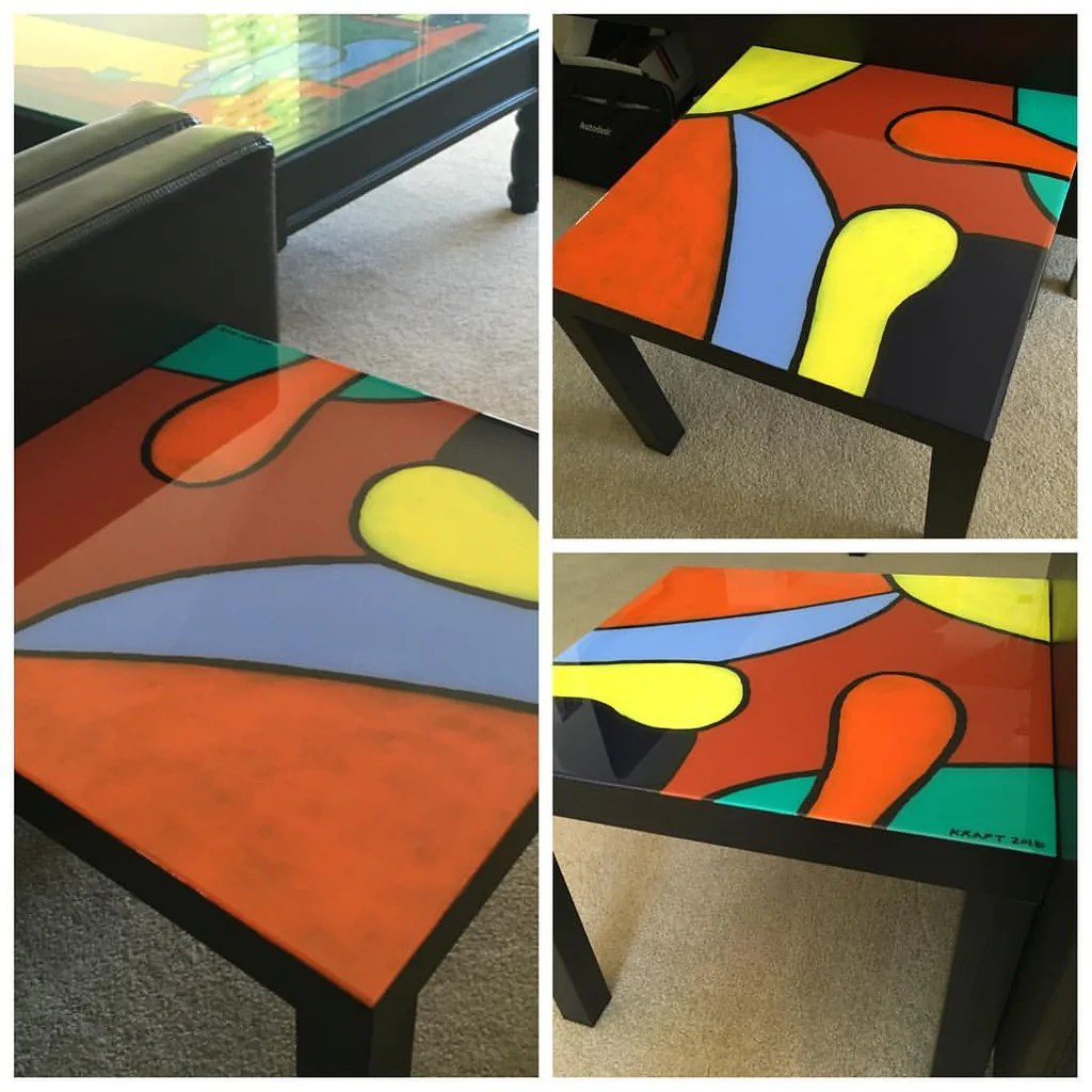 abstract coffee table sold artist john kraft