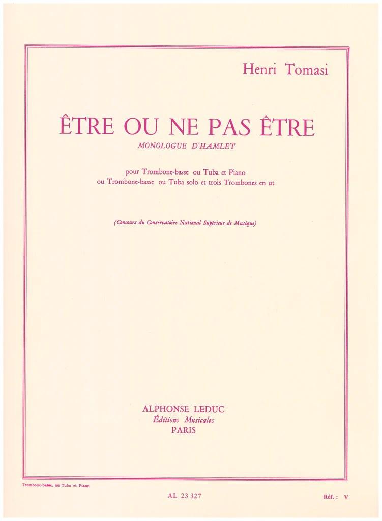 Hamlet être Ou Ne Pas être : hamlet, être, Trombone, Piano, Henri, Tomas