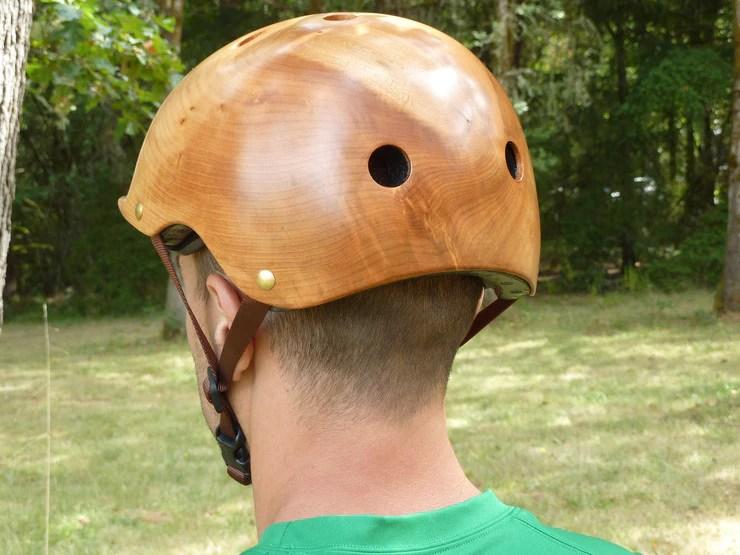 Wood helmet pic