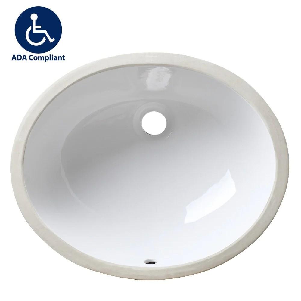 allora usa ada 1417 17 x 14 x 5 vanity sink series white