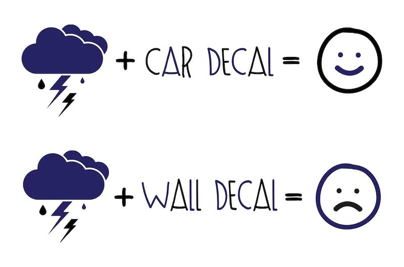 car decals vs wall