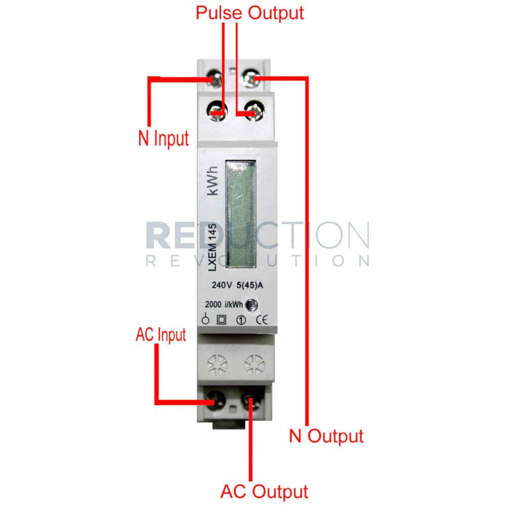 hight resolution of single phase electricity sub meter 45 amp