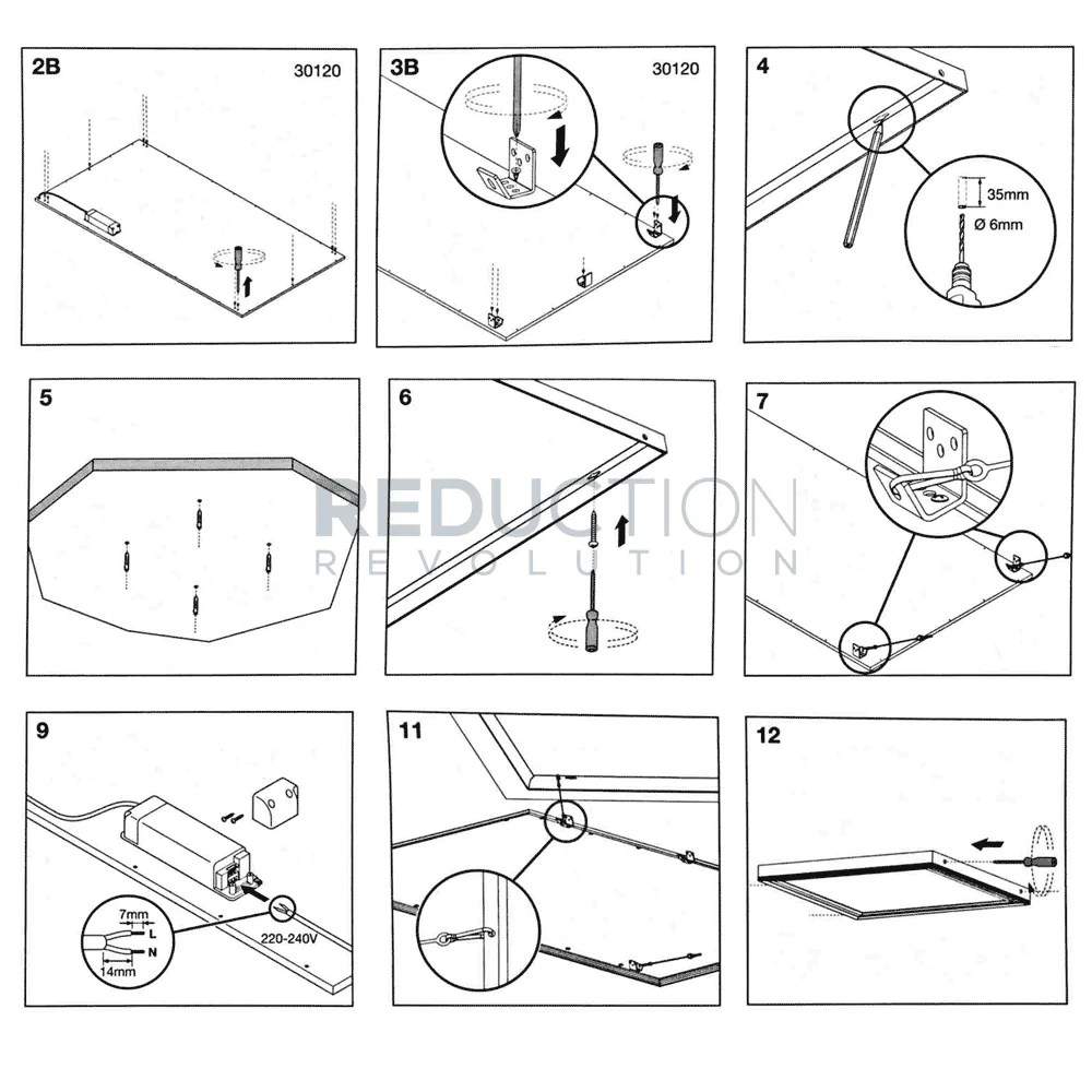 small resolution of led panel surface frame kit mounting instructions