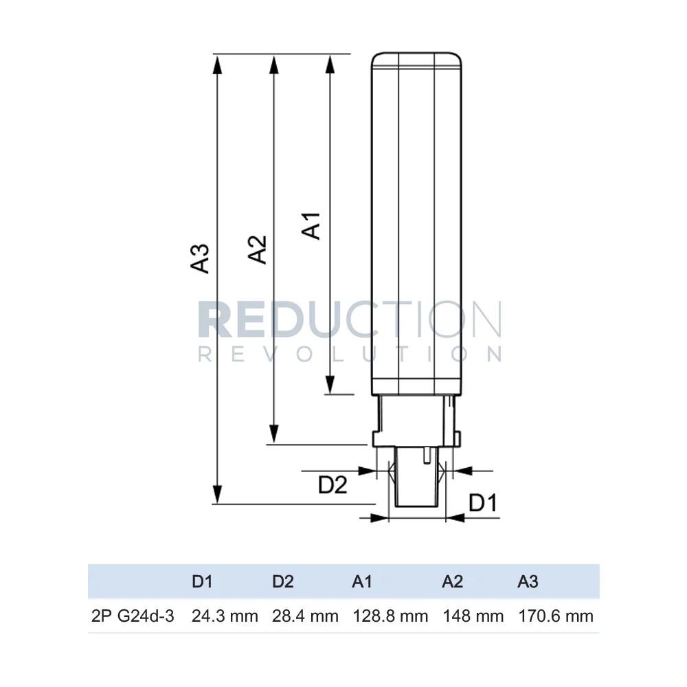 philips corepro 8 5w 26w g24d 3 2 pin led bulb [ 1000 x 1000 Pixel ]
