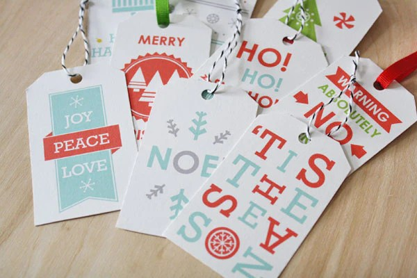 Gift Tag Printables by Sass & Peril