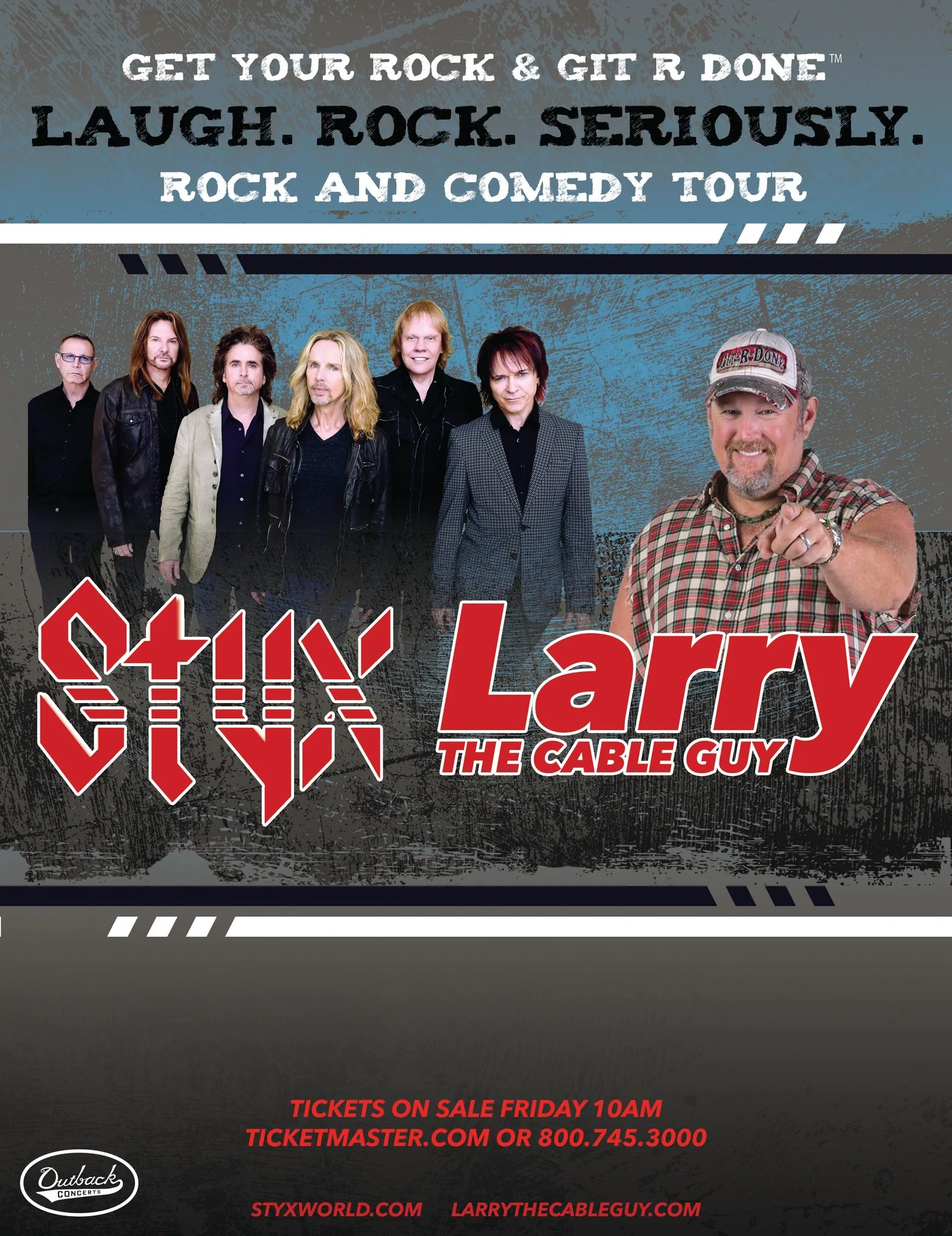 small resolution of styx and larry the cable guy set to rock and git r done with seven unforgettable shows laugh rock seriously starting march 21 in fargo nd