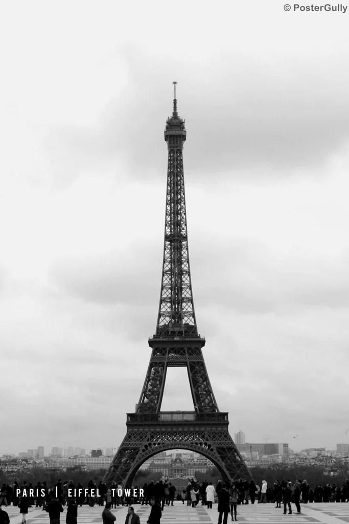 paris eiffel tower black