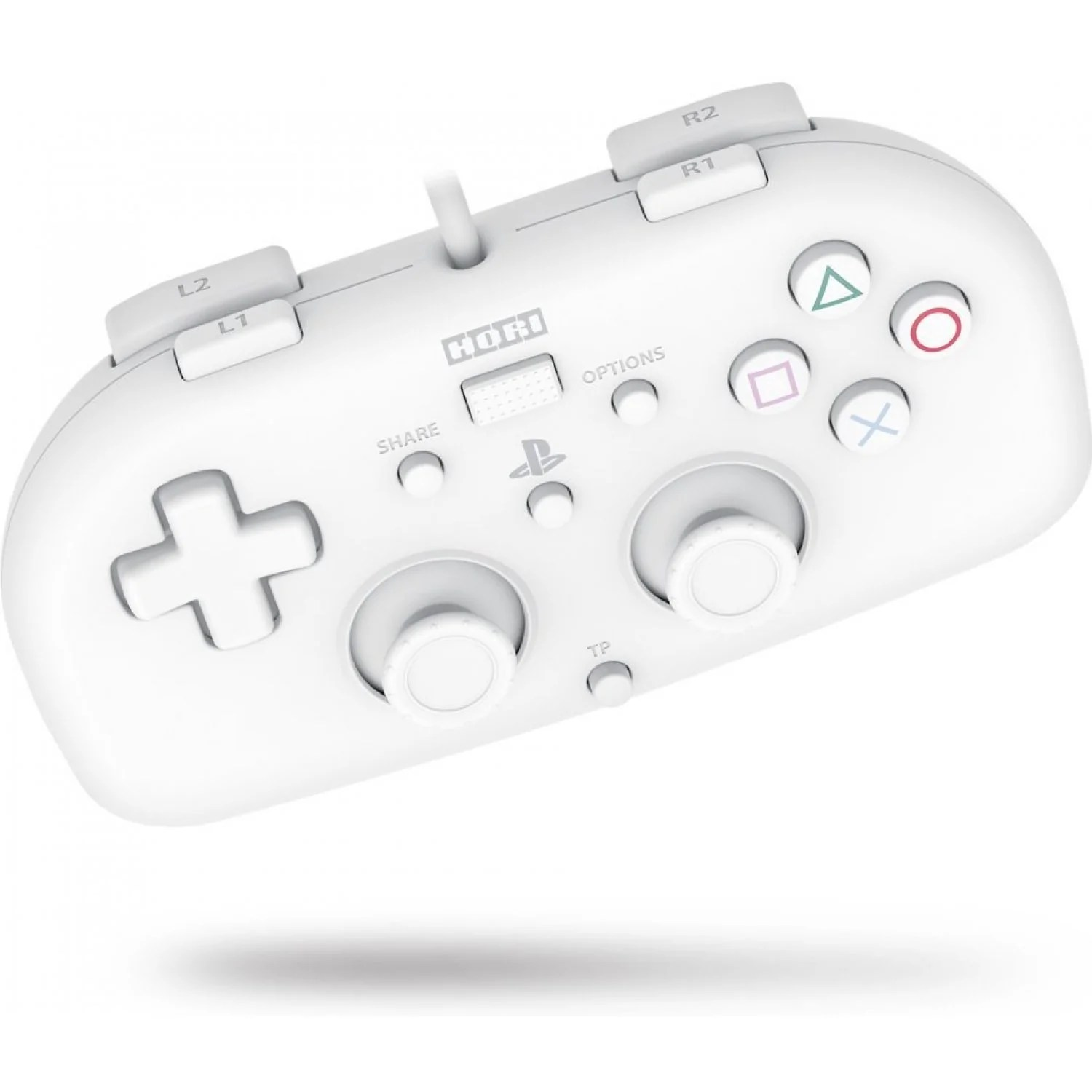 Hori wired controller light white controller for ps4 shopitree
