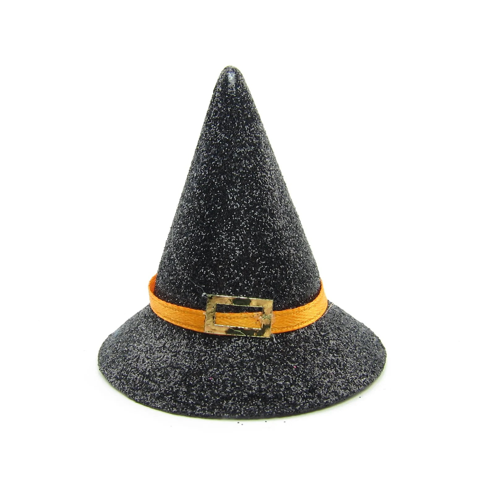 Halloween Witch Hat With Glitter For Playscale Dolls Crafts Brown Eyed Rose