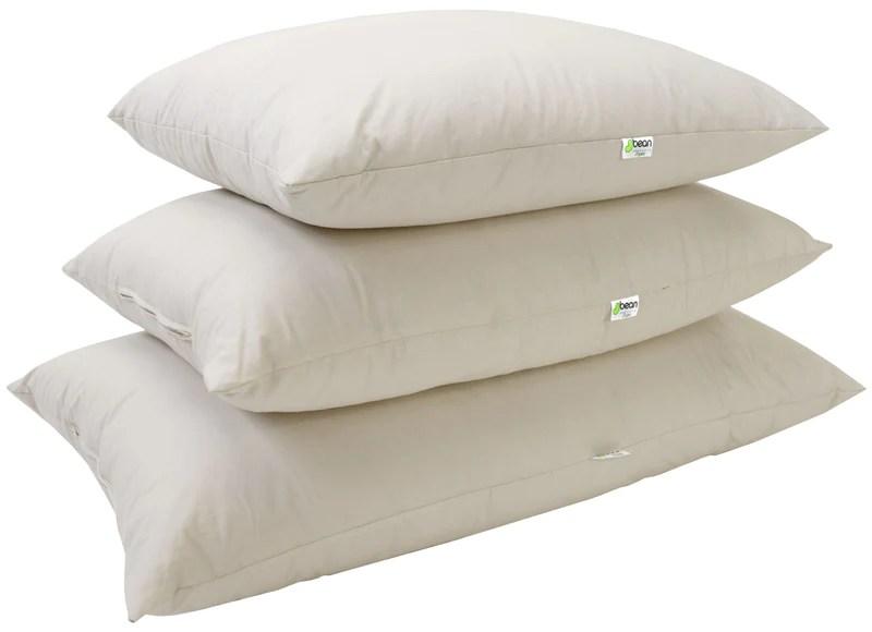 kapok sleep pillows with 100 organic cotton fabric