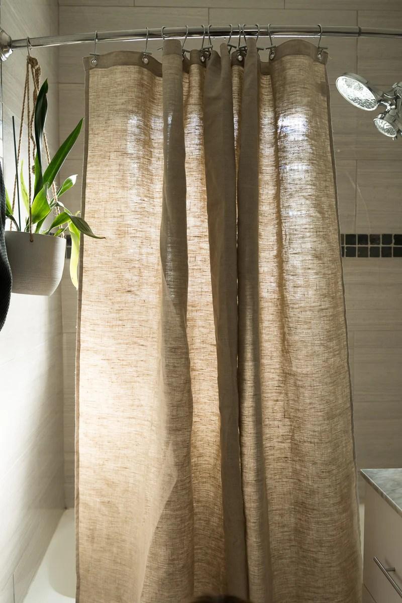 hemp shower curtain bath tub stall sizes made in usa
