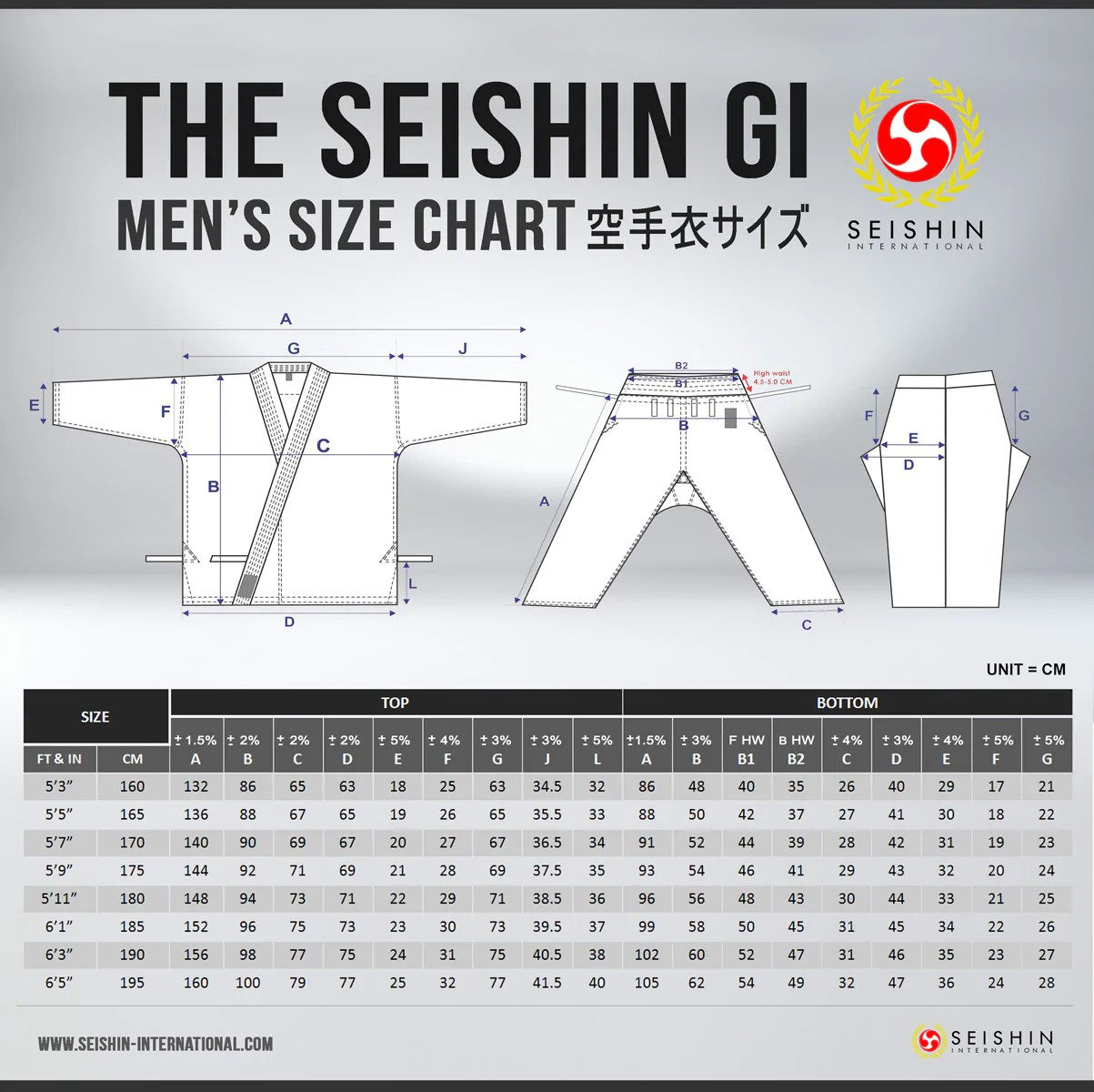 hight resolution of size chart male female