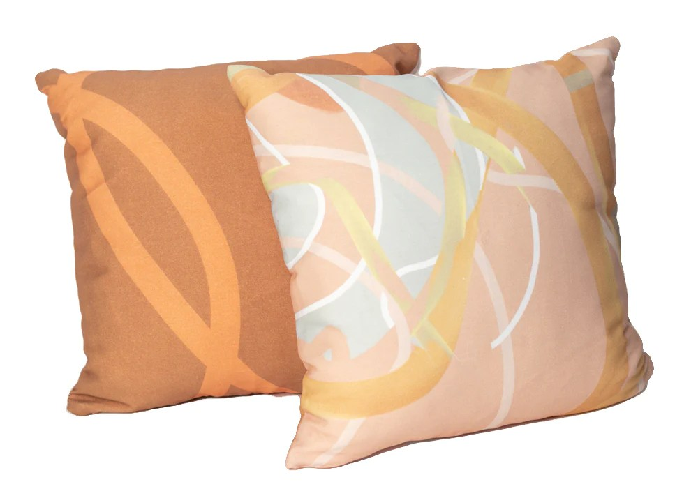 peach mint throw pillow burke decor