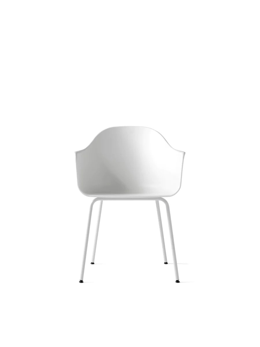 chair steel legs sleeper chairs south africa harbour plastic shell in assorted colors by menu