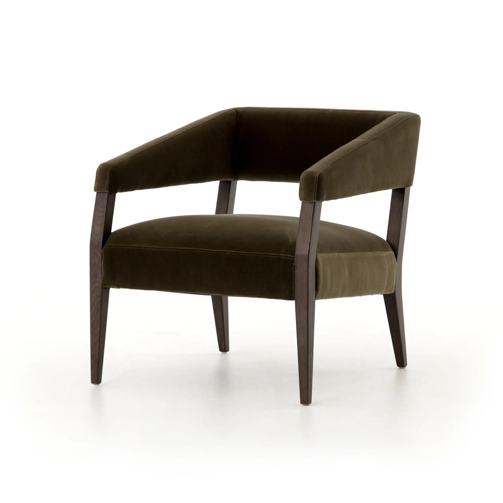 olive green accent chair how to raise a office height gary club in  burke decor