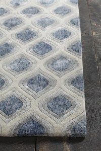 Clara Collection Hand-Tufted Area Rug in Blue, Grey ...