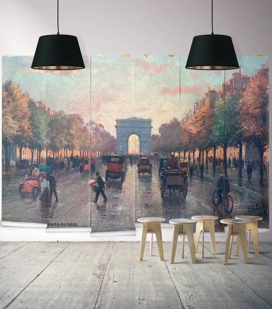 Sample Champs Elysees Wall Mural Erstwhile
