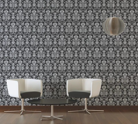 black and white wallpaper ideas for living room with navy blue couch modern designs burke decor classic baroque in metallic design by bd wall