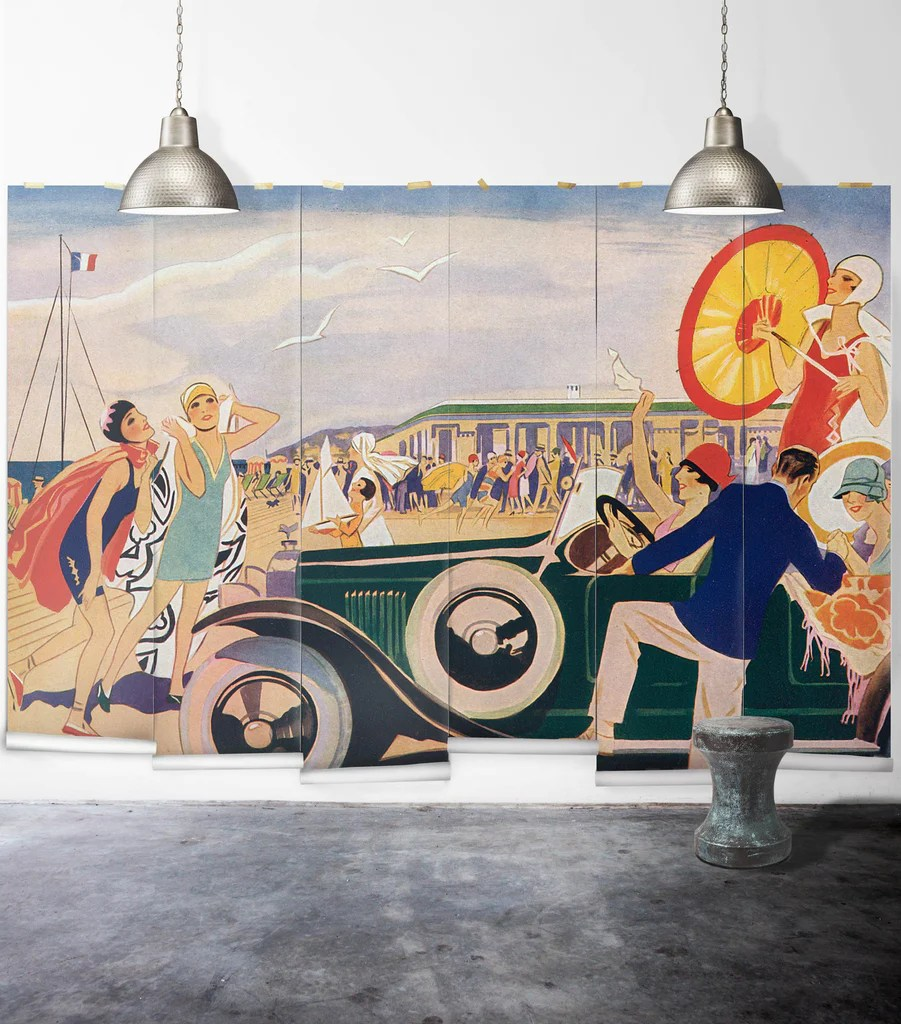 French Riviera Wall Mural