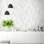 Marble Texture Peel And Stick Wallpaper In Grey And White By Nextwall Burke Decor
