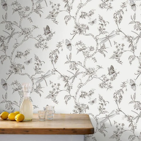 wallpaper for kitchen purple cabinets bath burke decor nature trail white mica from the modern living collection by graham