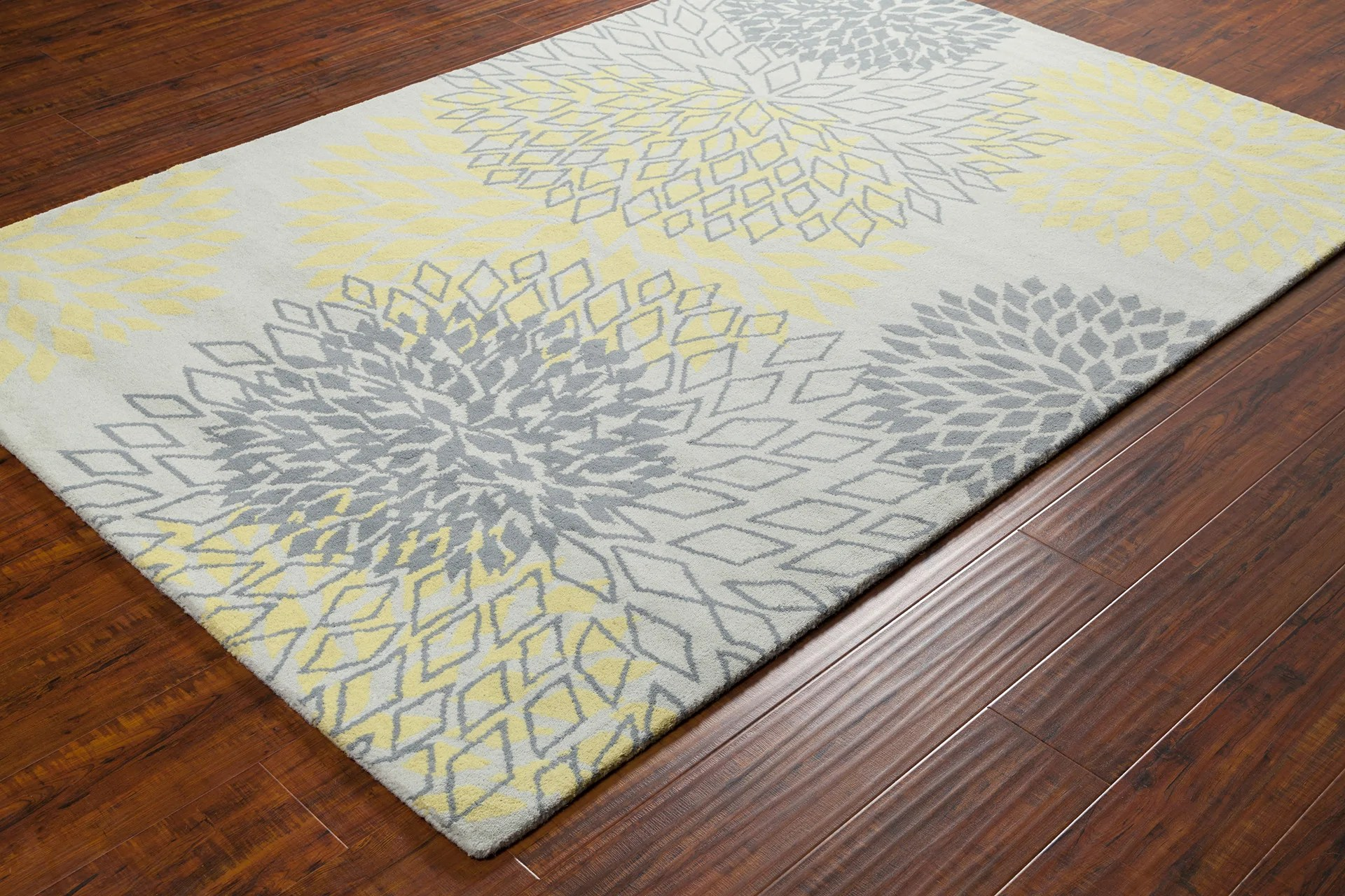 yellow and gray rug for living room create your own virtual stella collection hand tufted area in grey design by chandra rugs