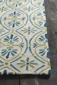 Terra Collection Hand-Tufted Area Rug in Cream, Blue ...