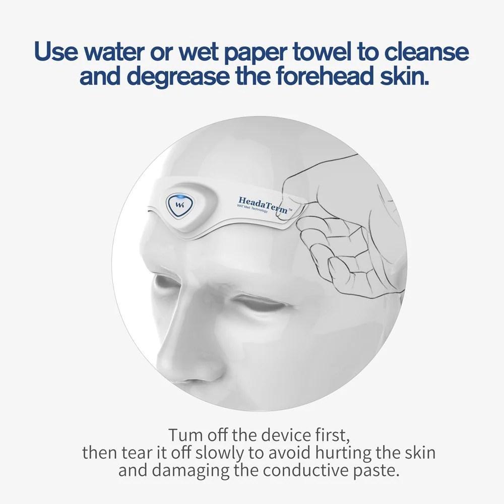 medium resolution of  watmedical headaterm tens device for headache migraine pain relief migraine relief store