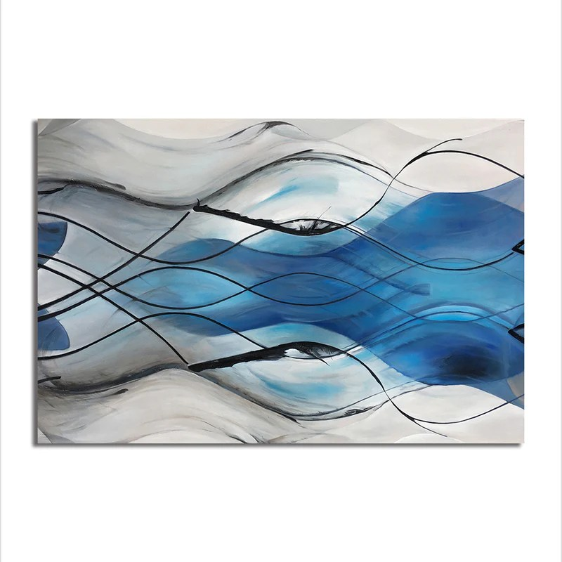 abstract waves unframed canvas