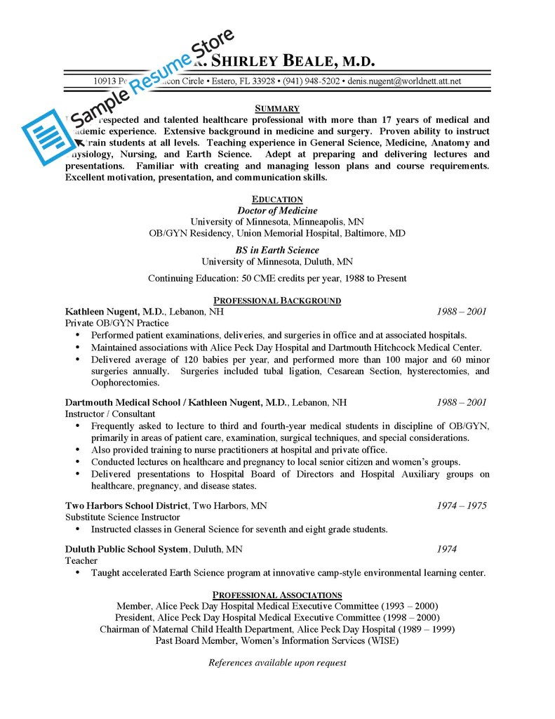 Physician Resumes Physician Resume
