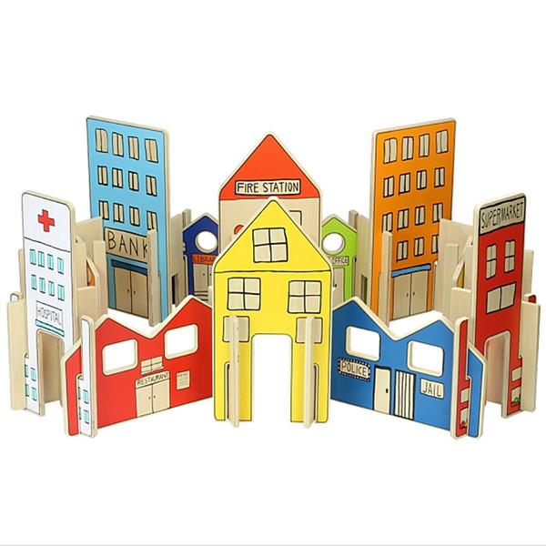 Happy Architects Town Freckled Frog Wooden Toys