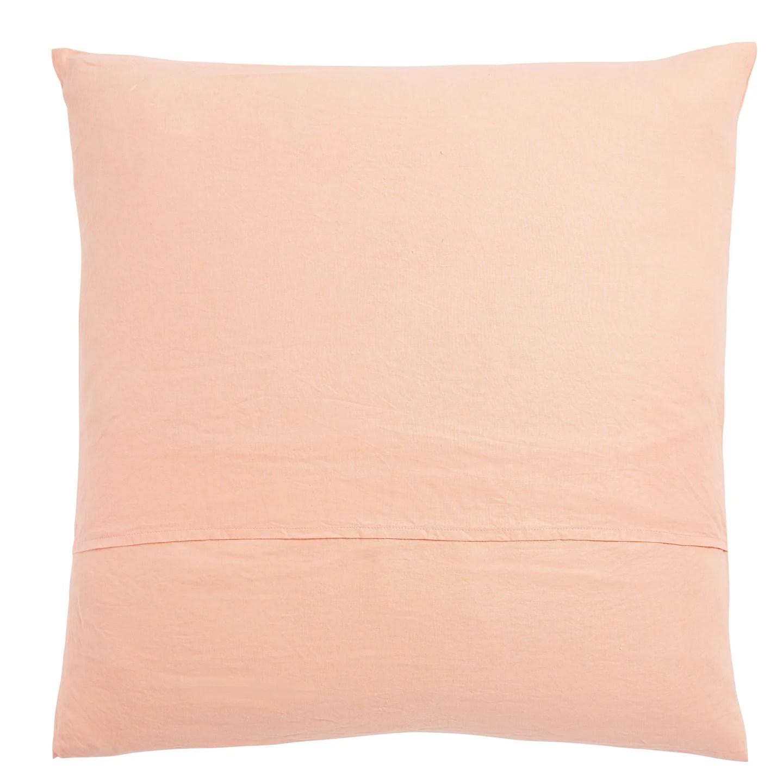 linen euro pillowcase set peach puff sage and clare