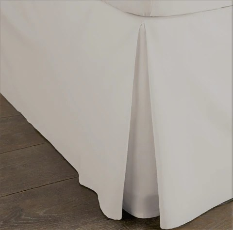 bed valances bed skirts box pleated