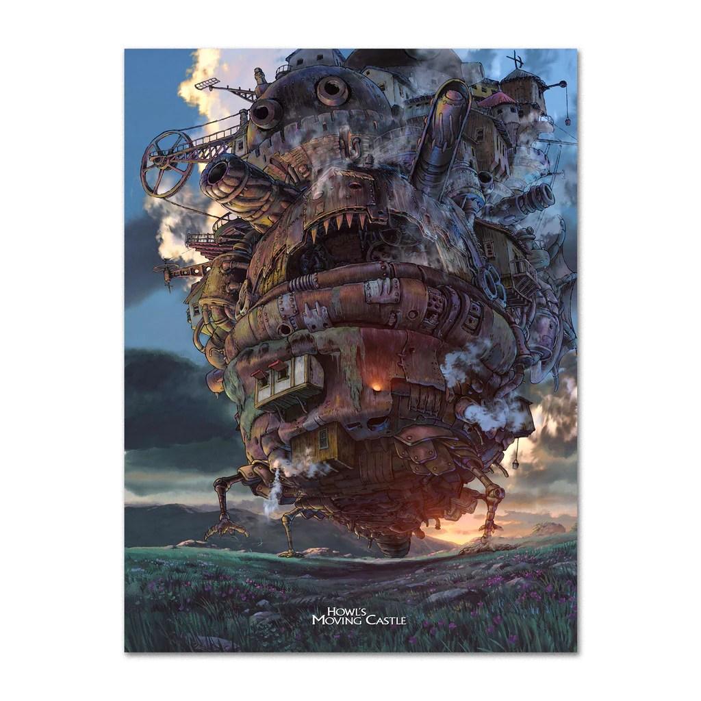 howl s moving castle poster official art