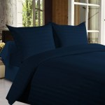 Buy Bed Sheets With Stripes 350 Thread Count Dark Blue Online In India Best Prices Free Shipping