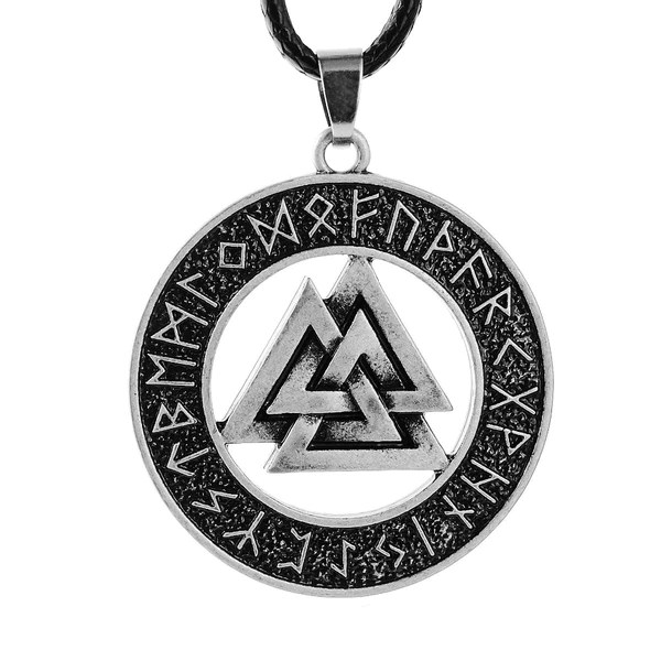 Sterling Silver Valknut Necklace Age Of Vikings
