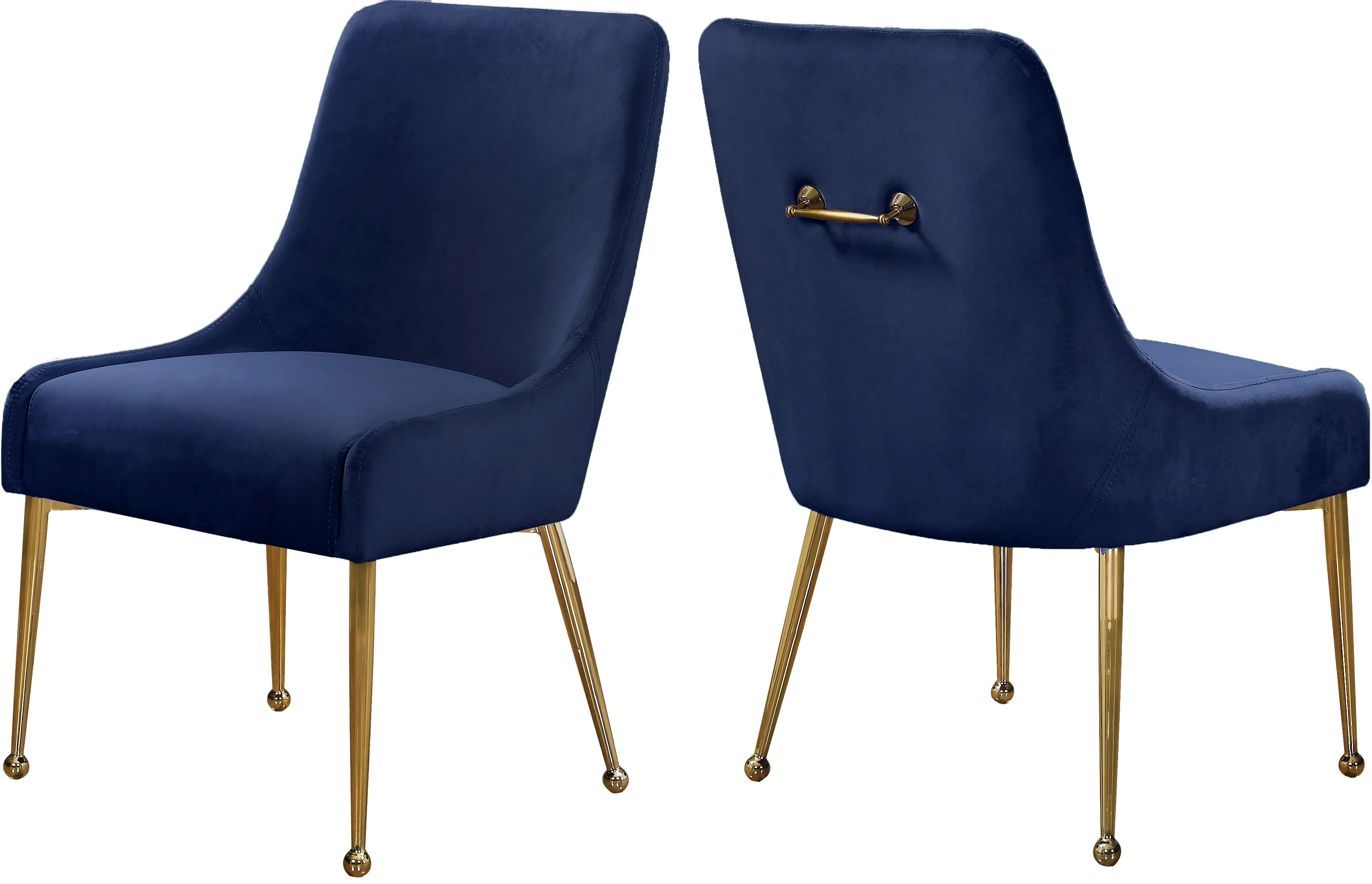 small resolution of meridian furniture 744navy owen navy velvet dining chair set of 2 647899953330